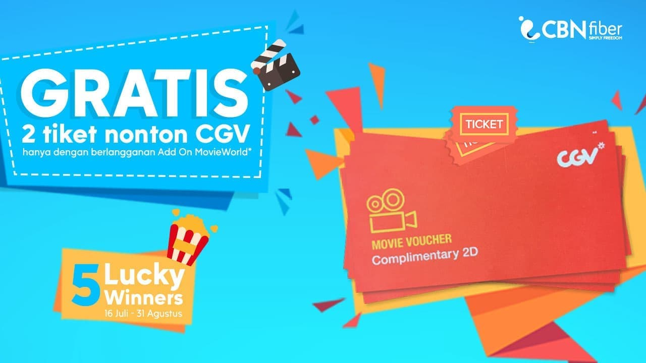 Cyberindo Aditama Gratis 2 Tiket Nonton Cgv Dengan Berlangganan